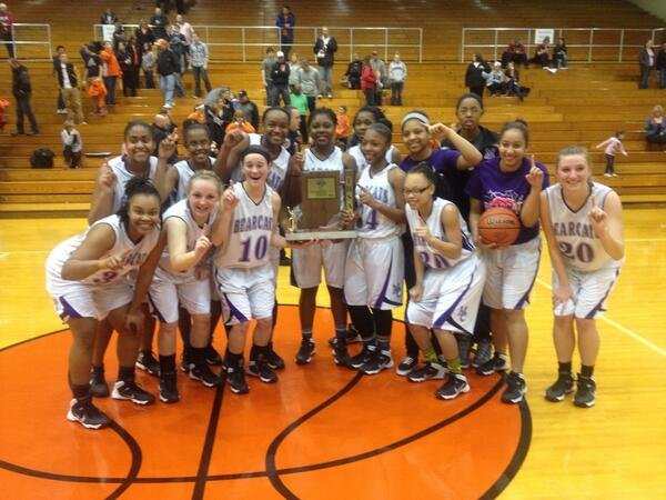 """Way to go!""  The Lady Bearcats are the Sectional Champions, claiming the first crown in girls hoops since 1997"
