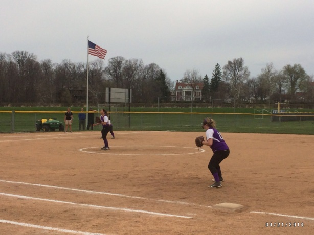 Lady Bearcat Softball Action