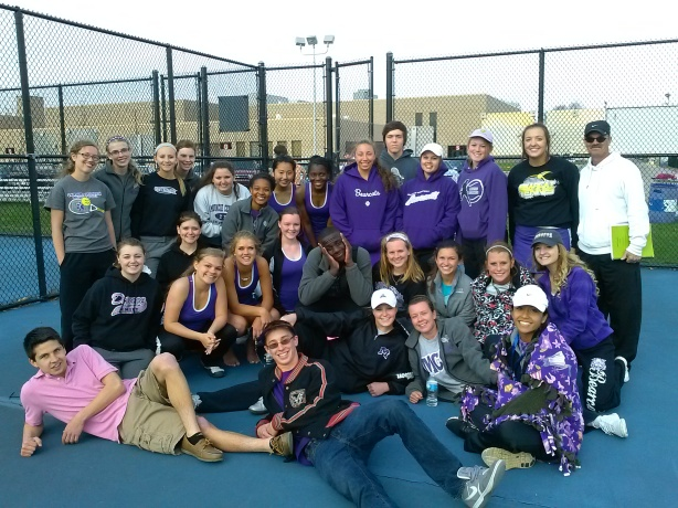 The Girls Tennis Team
